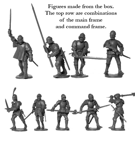 28MM MEDIEVAL FOOT KNIGHTS SPRUE PERRY MINIATURES